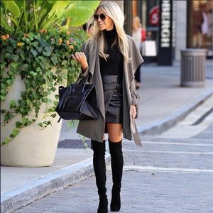 Club Monaco - Faux Leather Skirt (EUC)